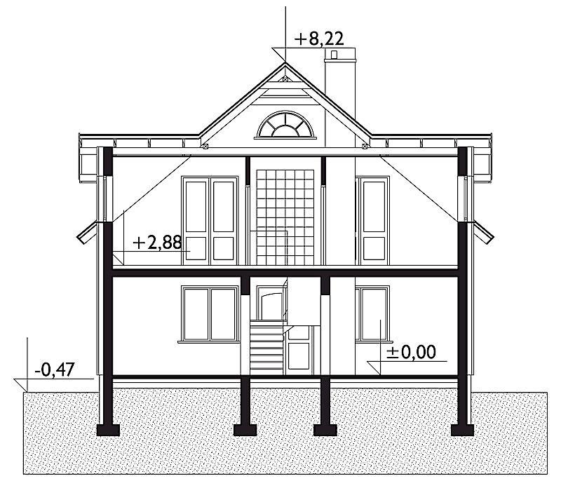 Проект дома Абакус - зеркальное отражение (E-2)