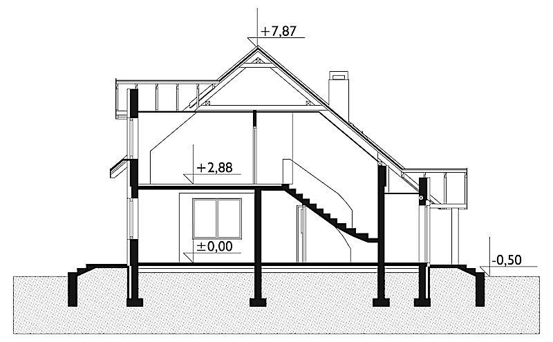 Проект дома Агат - зеркальное отражение (E-7)