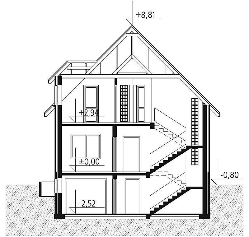 Проект дома Акация - зеркальное отражение (E-10)