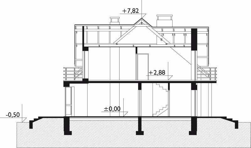 Проект дома Акорд - зеркальное отражение (E-12)