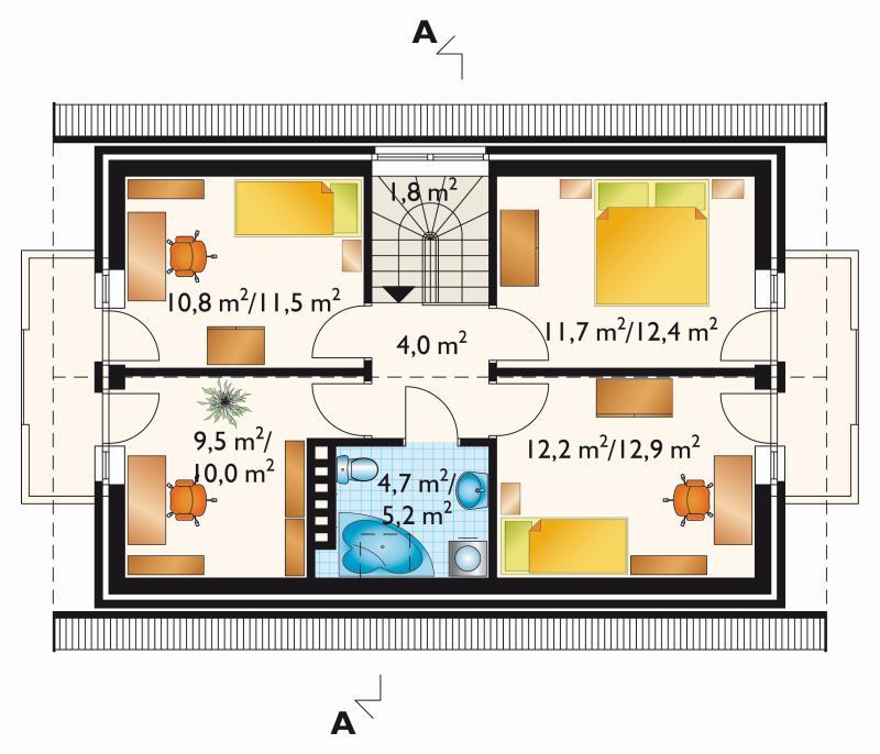 Проект коттеджа Альфа - зеркальное отражение (E-16)