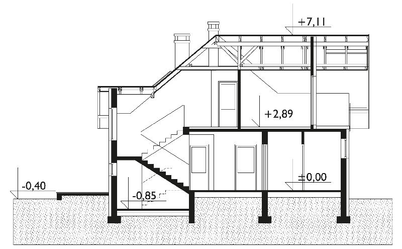 Проект дома Алка - зеркальное отражение (E-18)