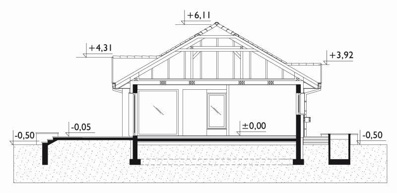 Проект дома Аллегро - зеркальное отражение (E-19)