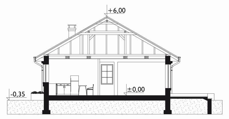 Проект дома Аллегро Кон Мобиль (E-835)