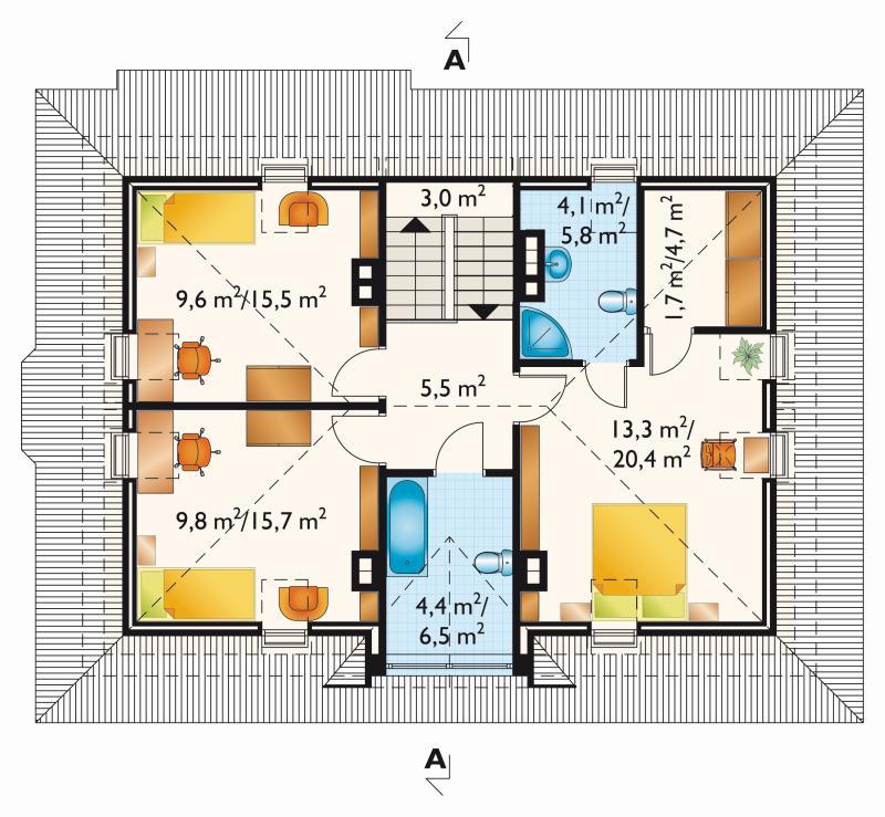 Проект дома Амадей Крак (E-802)