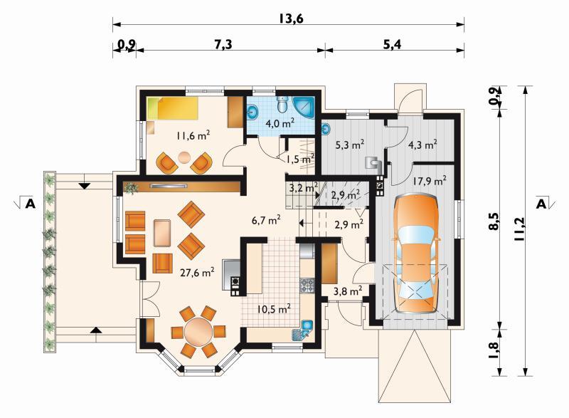 Проект дома Аметист (E-25)
