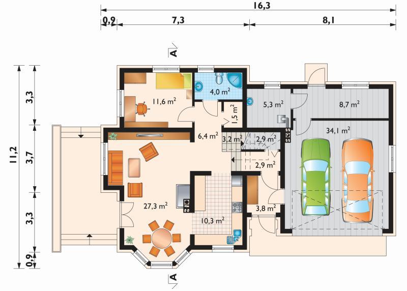Проект дома Аметист Г2 (E-1001)
