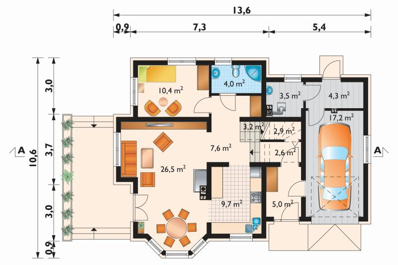 Проект дома Аметист Поло (E-1035)