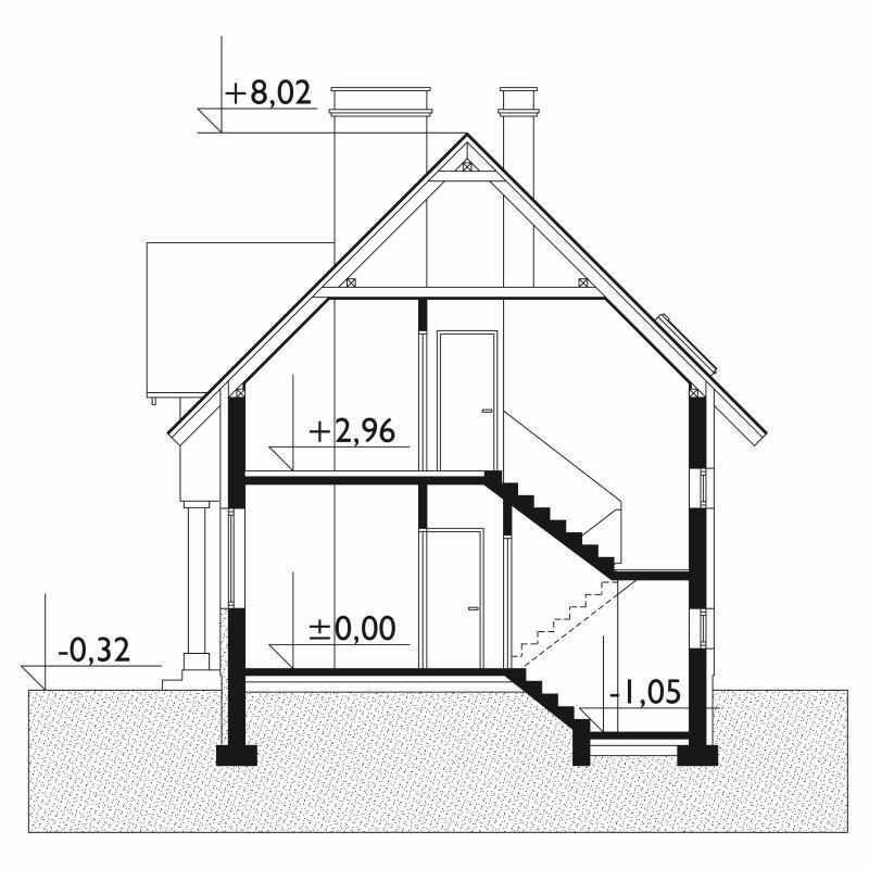 Проект дома Анталья - зеркальное отражение (E-28)