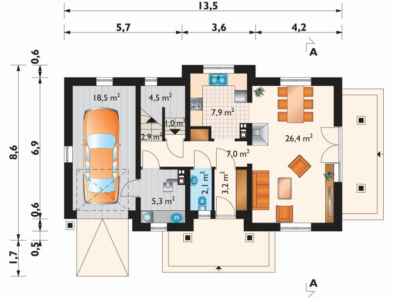 Проект дома Анталья Мобиль (E-833)