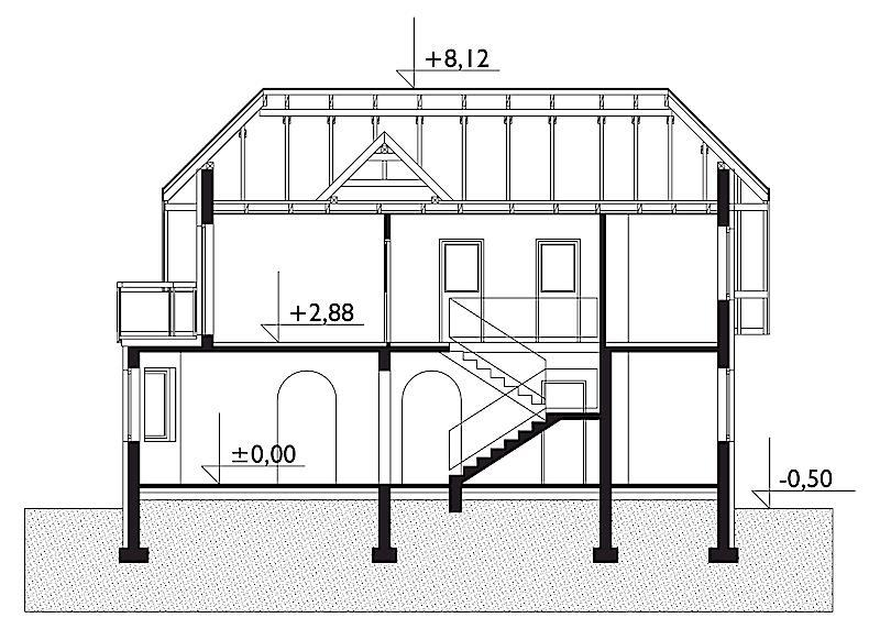 Проект дома Антрацит (E-31)
