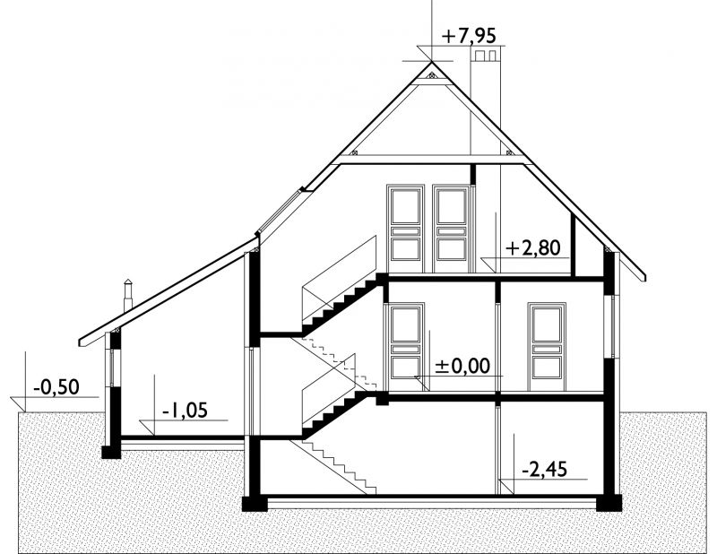 Проект дома Астра - зеркальное отражение (E-37)