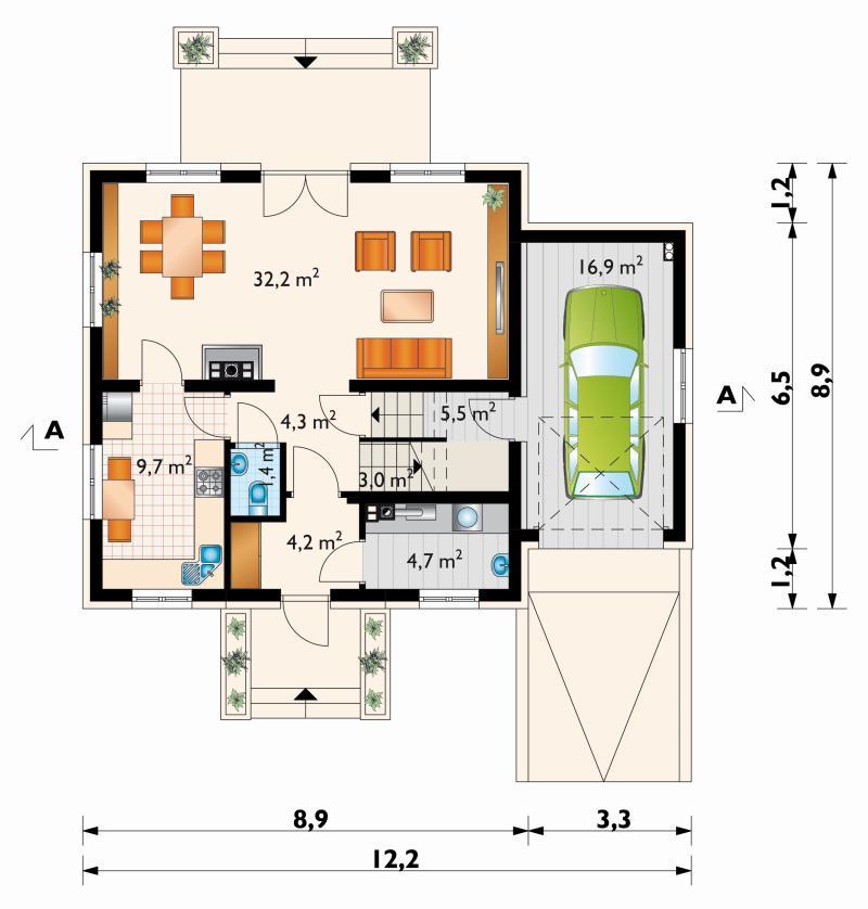 Проект дома Астер Нео (E-1012)