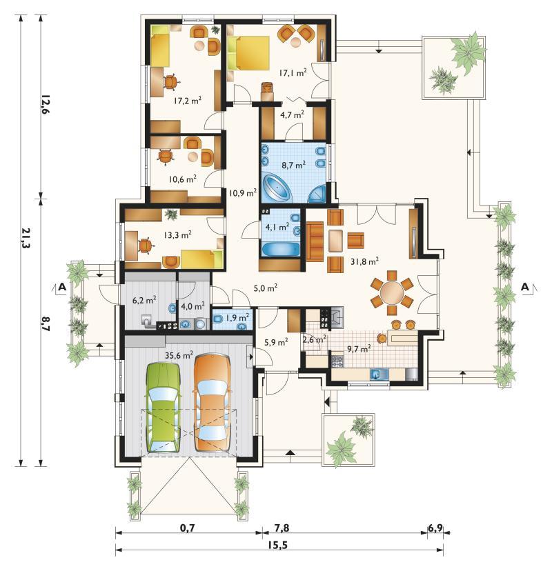 Проект дома Аврелий Нова - зеркальное отражение (E-1134)