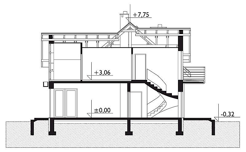 Проект дома Азурит (E-825)