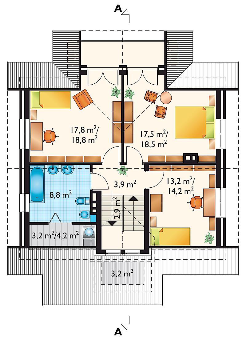 Проект дома Бабье Лето (E-48)