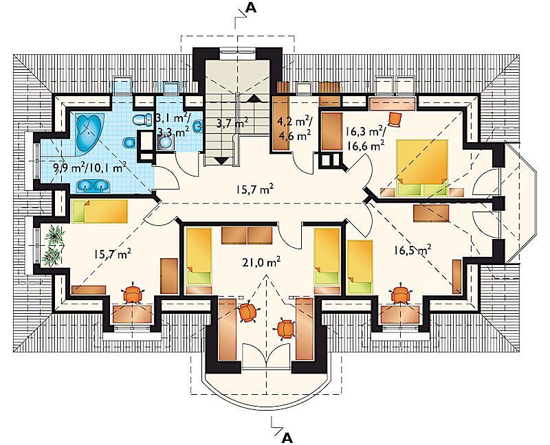 Проект дома Баркентина - зеркальное отражение (E-51)