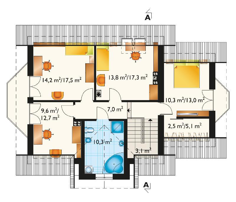 Проект дома Бера Люкс (E-845)