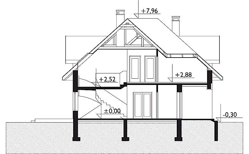 Проект дома Богна - зеркальное отражение (E-67)