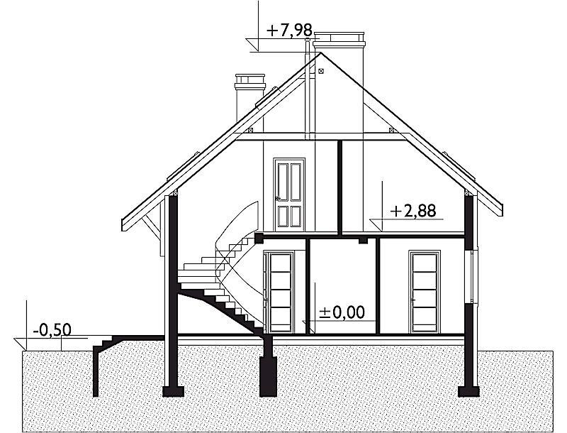 Проект дома Фазан - зеркальное отражение (E-71)