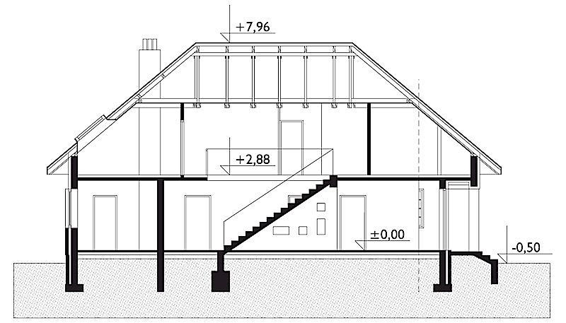 Проект дома Клеопатра - зеркальное отражение (E-74)