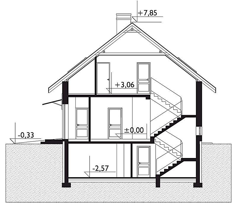 Проект дома Бромба - зеркальное отражение (E-77)