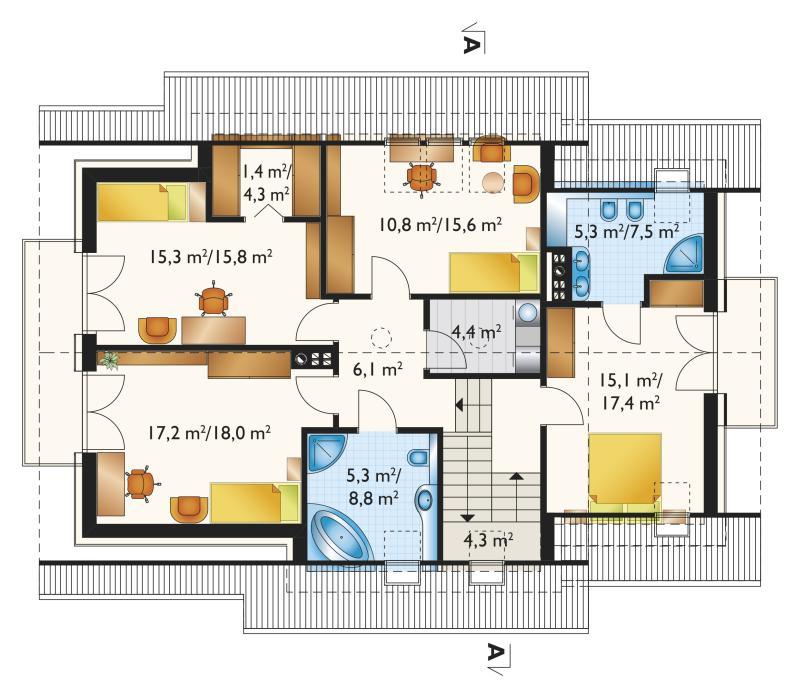 Проект дома Брунон - зеркальное отражение (E-1179)