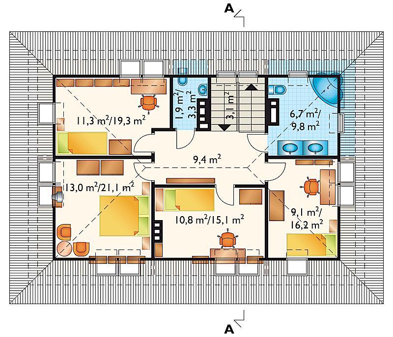 Проект дома Бриза - зеркальное отражение (E-78)