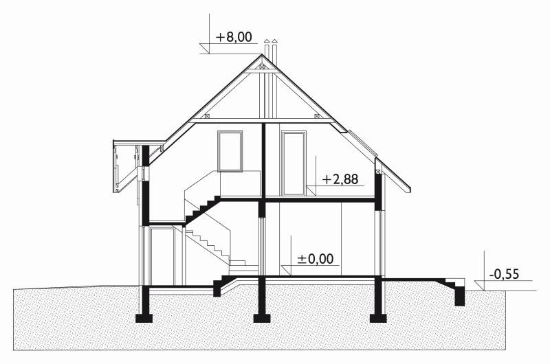 Проект дома Рассвет - зеркальное отражение (E-79)