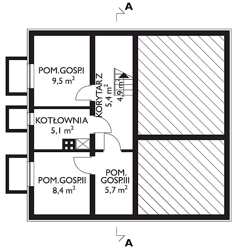 Проект дома Берёза - зеркальное отражение (E-80)