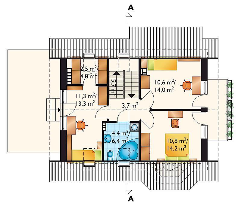 Проект дома Лещина - 2 Дуо (E-763)