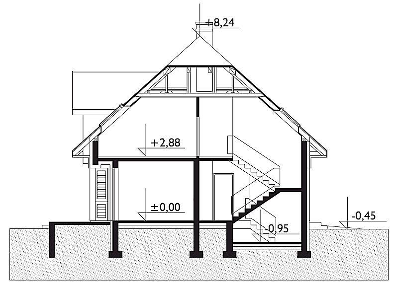 Проект дома Стелла - зеркальное отражение (E-83)