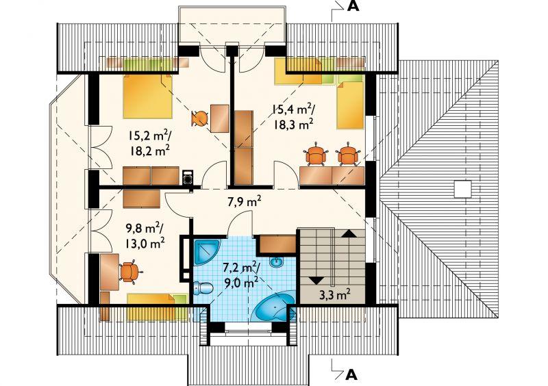 Проект дома София - зеркальное отражение (E-85)