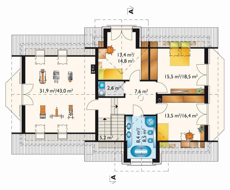 Проект дома София Гера Г2 (E-1245)