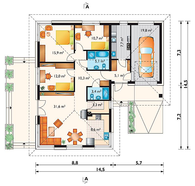 Проект дома Дамьян (E-86)