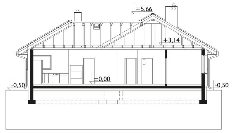 Проект дома Дамьян - зеркальное отражение (E-86)