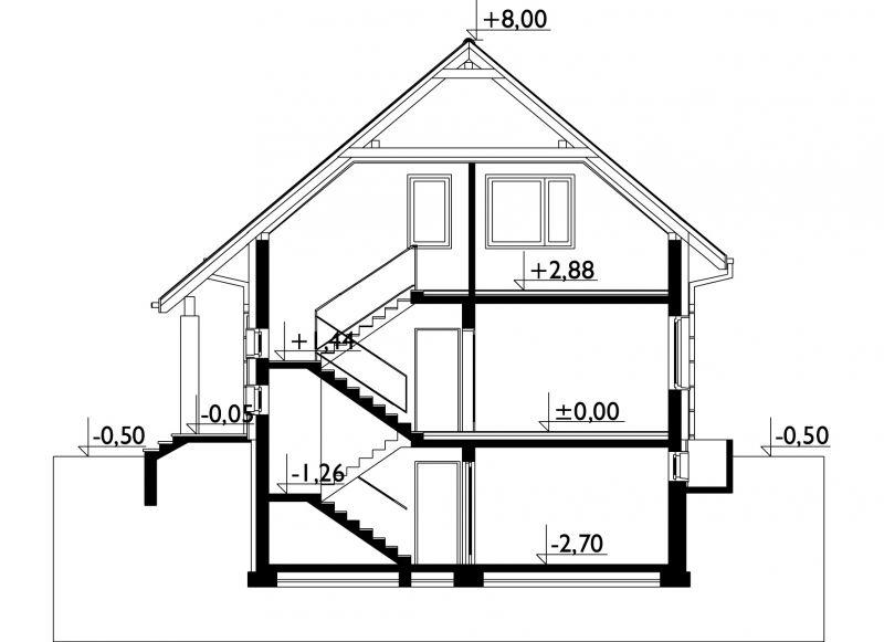 Проект дома Сосна (E-87)