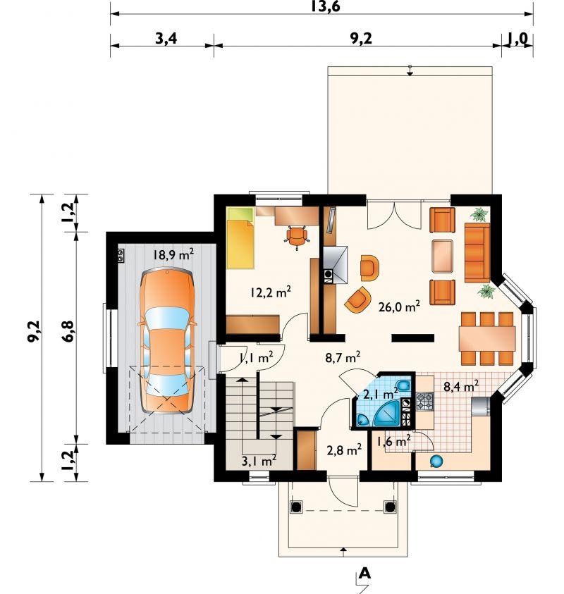 Проект дома Сосна Люкс (E-851)