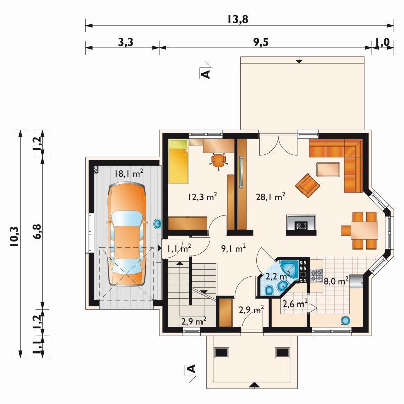 Проект дома Сосна Поло (E-979)