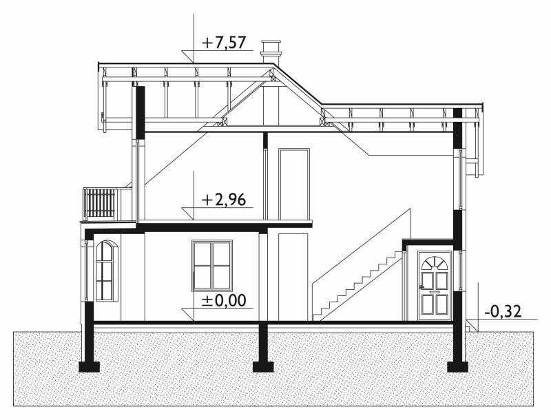 Проект дома Кайра - зеркальное отражение (E-95)