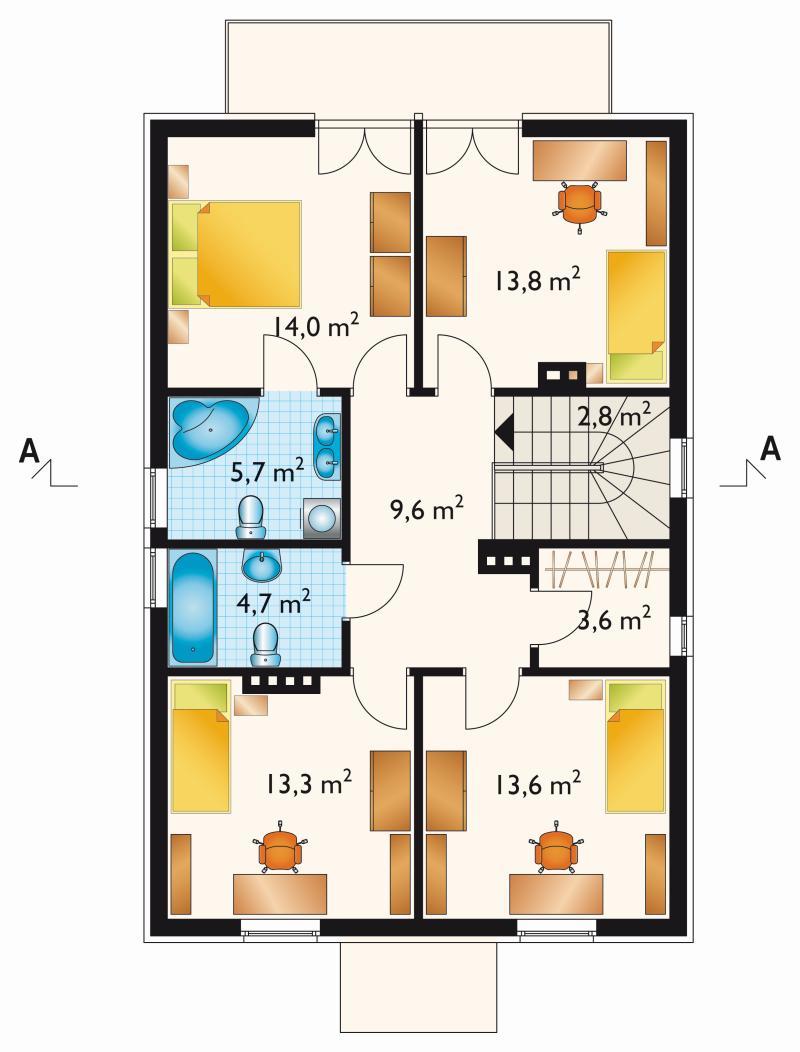 Проект дома Алебастр - зеркальное отражение (E-97)