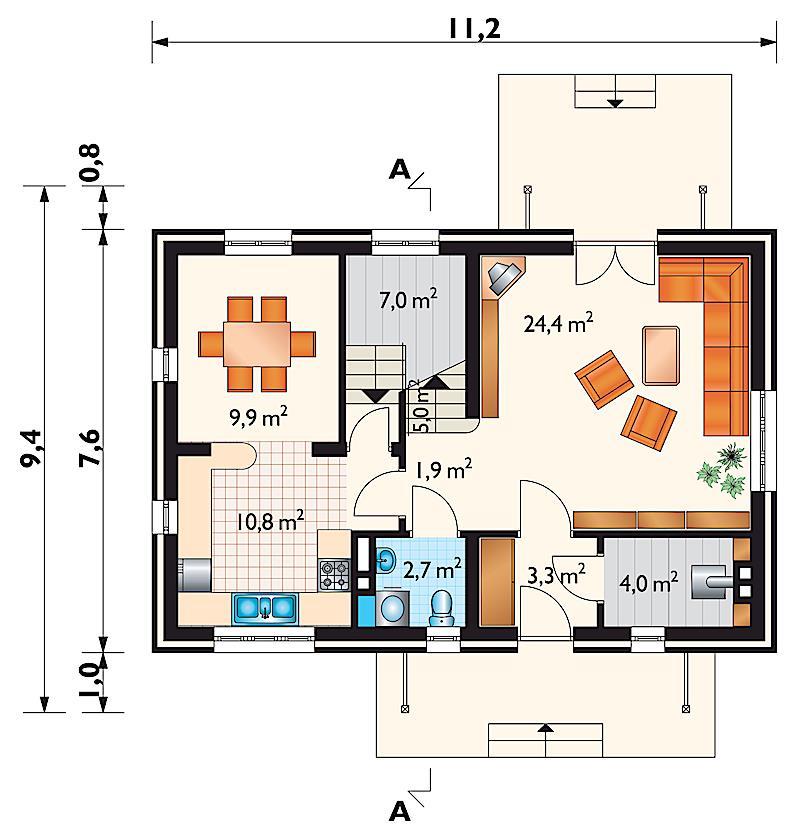 Проект дома Кирило (E-100)