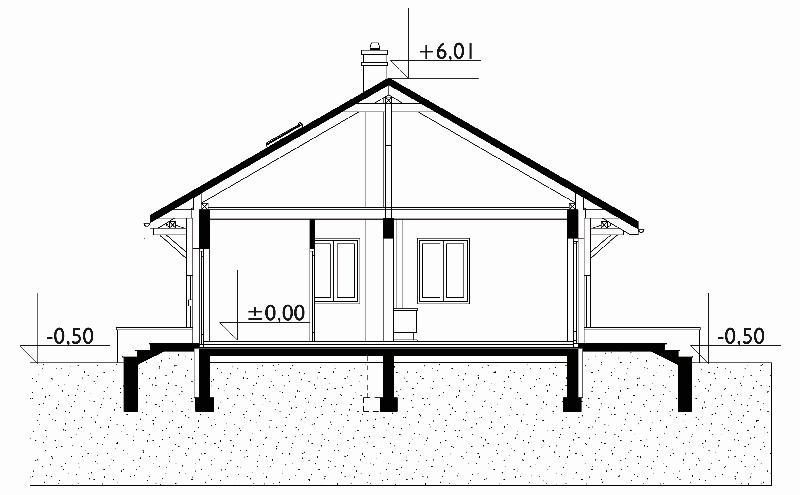 Проект дома Чижик - зеркальное отражение (E-104)