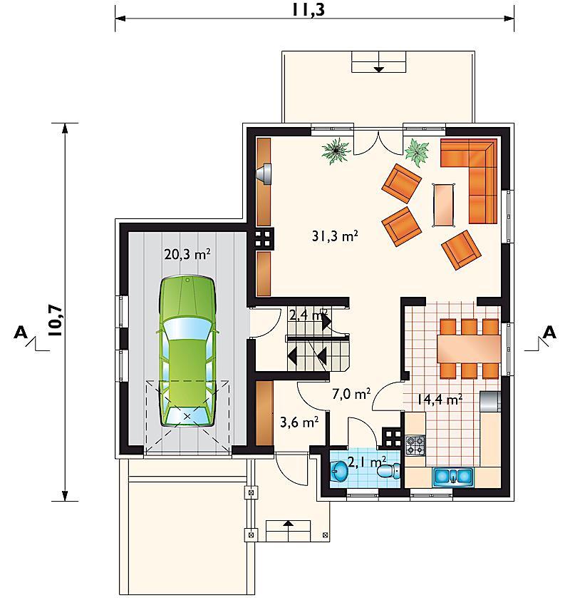Проект дома Шотландец (E-105)