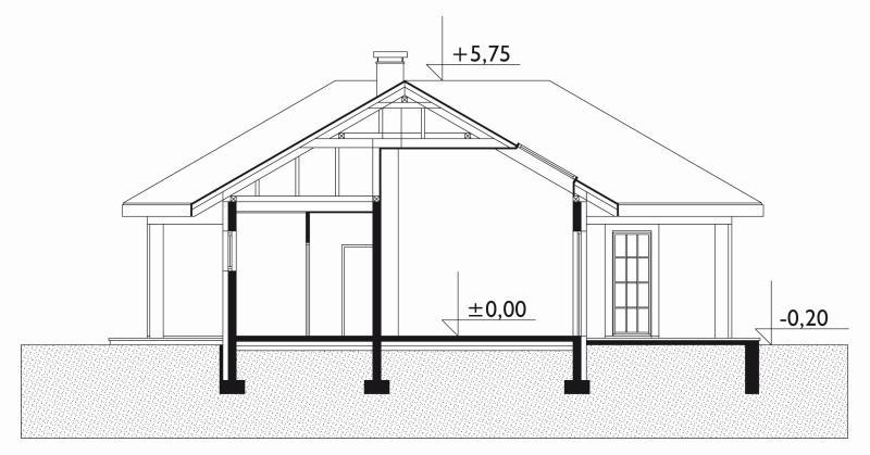 Проект дома Данило - зеркальное отражение (E-106)