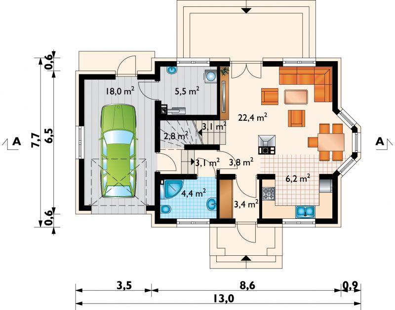 Проект дома Дарио (E-1013)