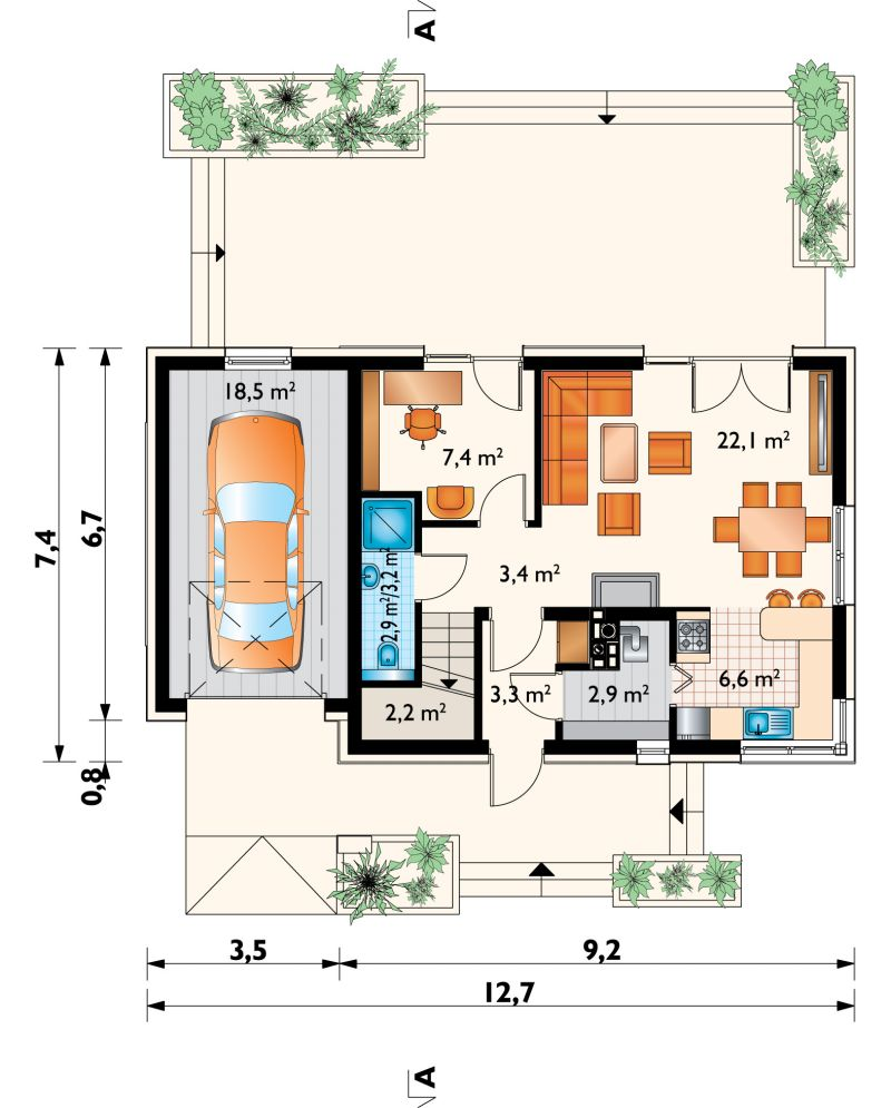 Проект дома Дино (E-1255)
