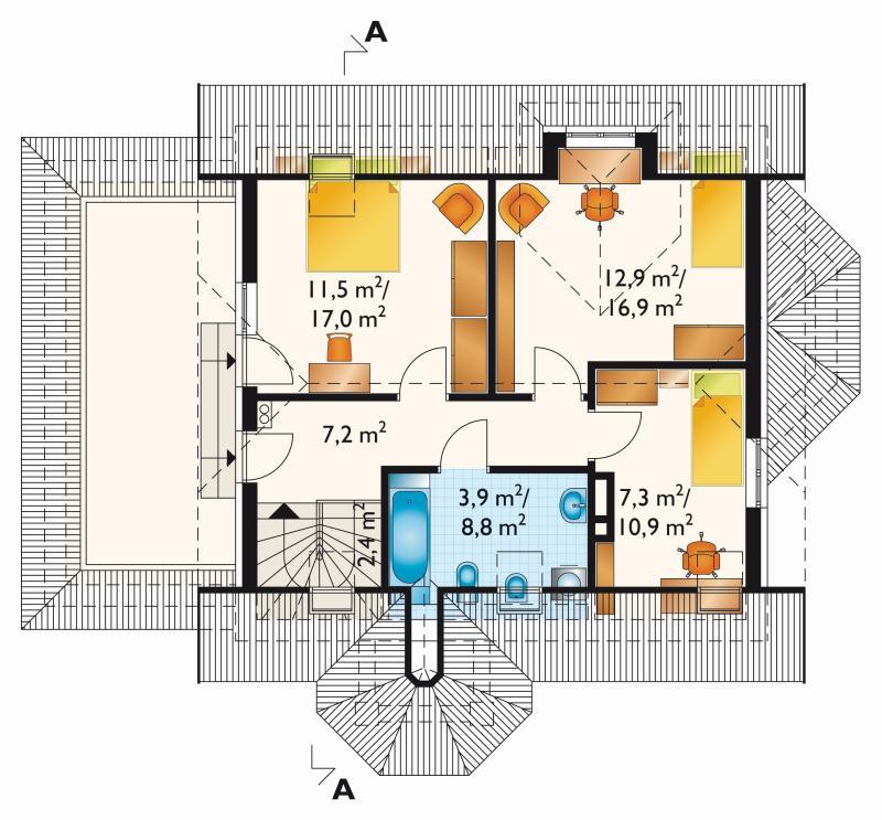Проект дома Добрава - зеркальное отражение (E-114)