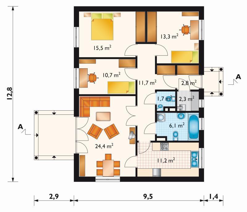 Проект дома Домино - 2 (E-117)