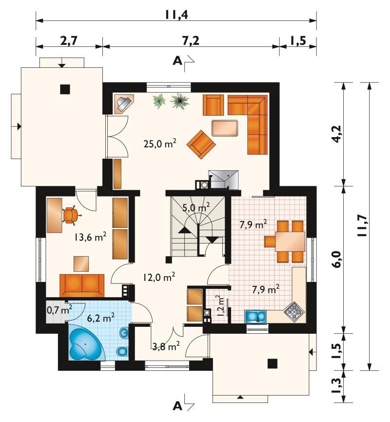 Проект дома Доната - зеркальное отражение (E-118)